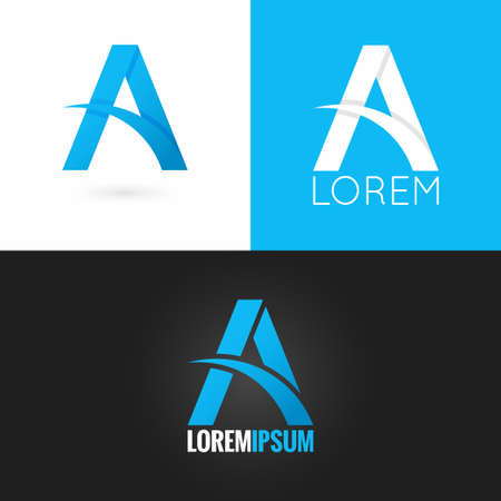 editable sign: letter A logo design icon set background 10 eps