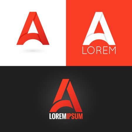 logo: chữ A thiết kế logo biểu tượng thiết lập nền 10 eps
