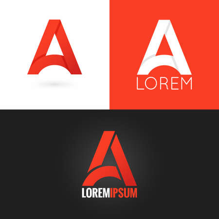 letter A logo design icon set background 10 eps Stock Vector - 42496147
