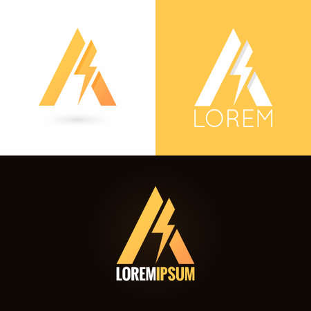 letter A logo design icon set background 10 eps