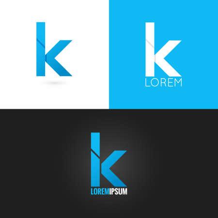 letter K logo design icon set background 10 eps