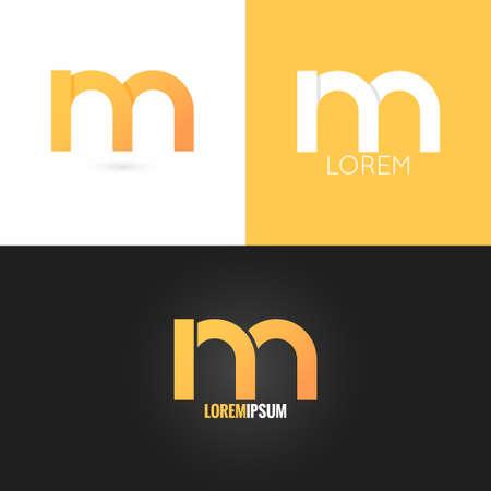 letter M logo design icon set background 10 eps Illustration