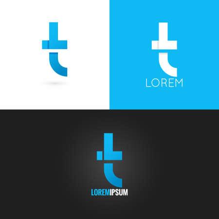 t background: letter T  design icon set background 10 eps Illustration