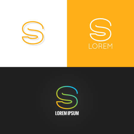 letter S  alphabet design icon set background