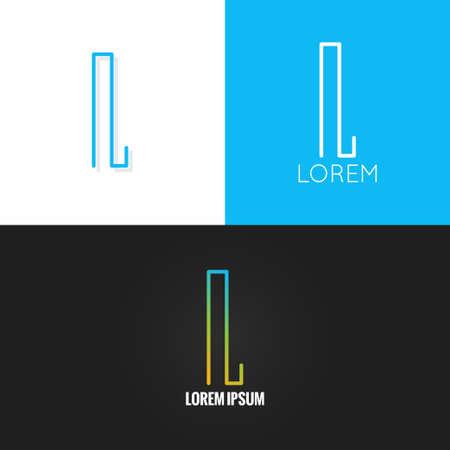 letter L  alphabet design icon set  10 eps Ilustracja