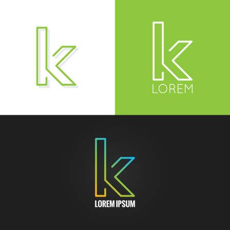 letter K alfabet design-icoon set achtergrond 10 eps