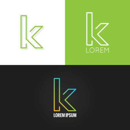 letter K  alphabet design icon set background 10 eps