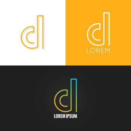 a d: letter D  alphabet design icon set background 10 eps