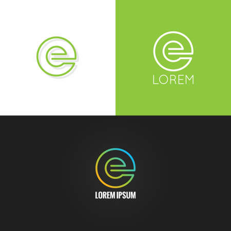 e alphabet: letter E  alphabet design icon set background 10 eps Illustration