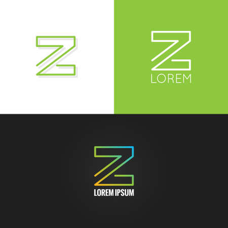 web elements: letter Z  alphabet design icon set background 10 eps