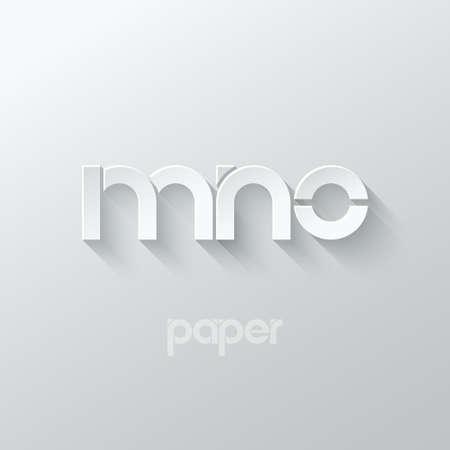 letter M N O logo alphabet icon paper set background 10 eps