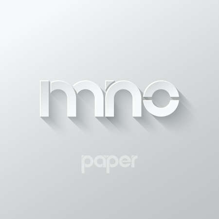 letter M N O logo alphabet icon paper set background 10 eps