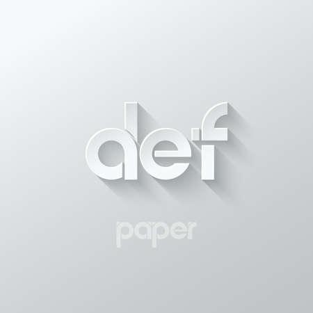 letter D E F logo alphabet icon paper set background 10 eps  イラスト・ベクター素材
