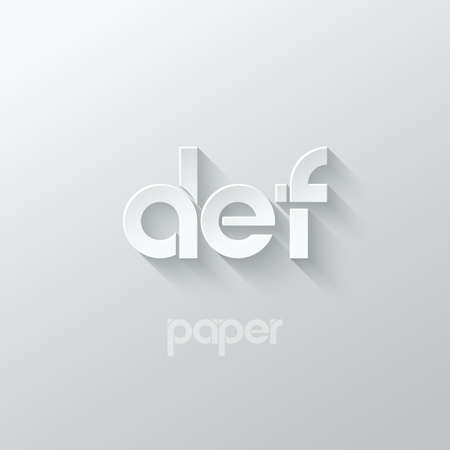 letter D E F logo alphabet icon paper set background 10 eps 向量圖像