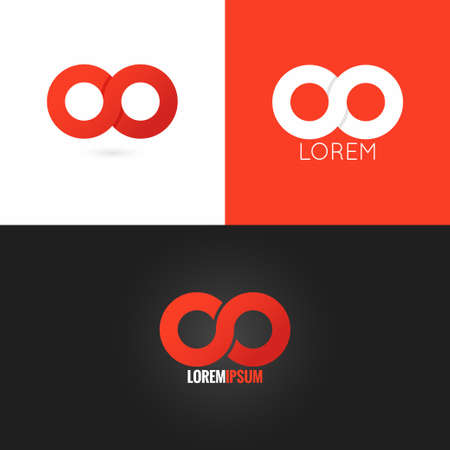 infinity symbol logo design icon set background 10 eps Banco de Imagens - 44413700