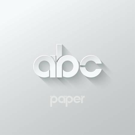 letter A B C logo alphabet icon paper set background 10 eps