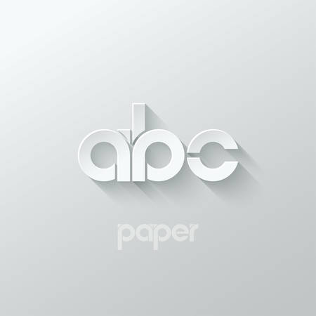 letter A B C logo alphabet icon paper set background 10 eps
