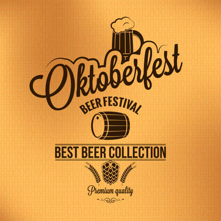 beer card: oktoberfest vintage poster Illustration