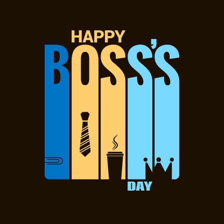 ボスの日休日デザインのベクトルの背景