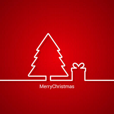 tree design: christmas tree web design red background 10 eps