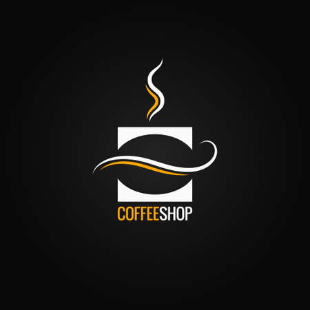coffee cup with bean  vector background 10 eps Illustration