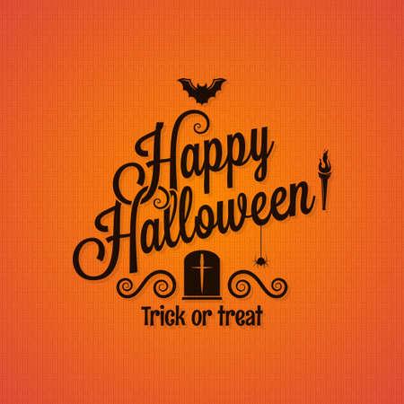 treats: halloween vintage lettering ornate background 10 eps