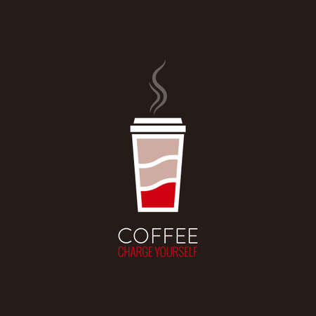 to go: coffee cup energy concept design background
