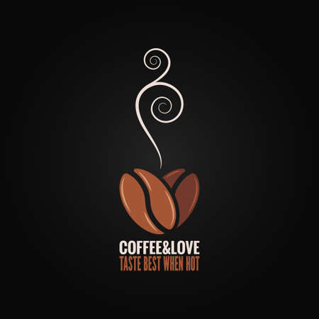 coffee bean love concept background 矢量图像