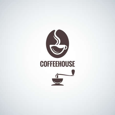 coffee bean with cup design background