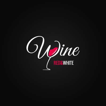 와인 잔 디자인 배경 일러스트