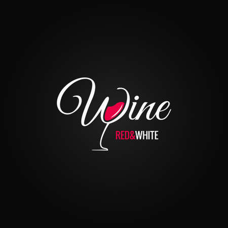 Verre à vin design background Banque d'images - 47208630