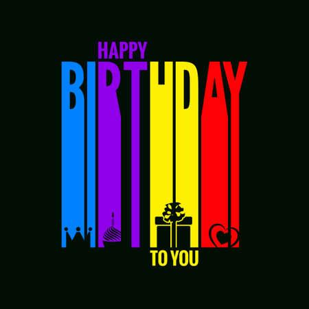 joyeux anniversaire: carte d'anniversaire heureuse conception de fond