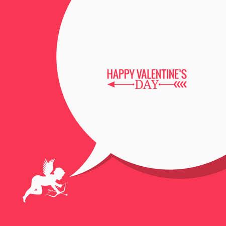 hablar en publico: Día de San Valentín concepto de medios sociales de fondo 8 eps Vectores