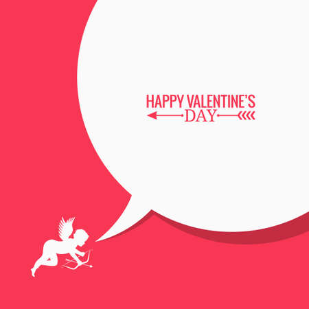 angel valentine: valentines day social media concept background 8 eps Illustration