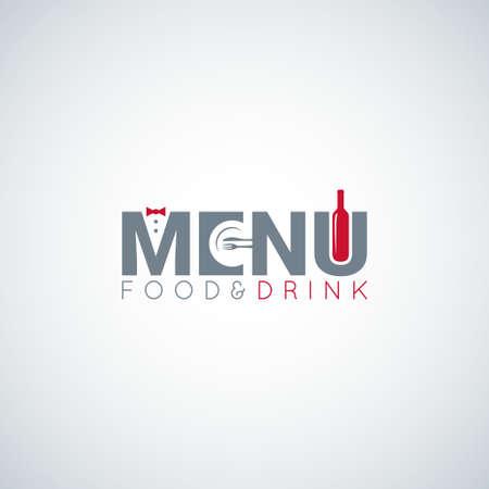 staffing: food and drink menu wine plate Illustration