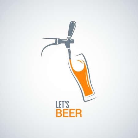 beer tap glass design