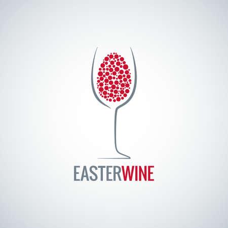 vinho: ovo projeto vinho Páscoa Ilustração