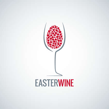 wine Easter egg design
