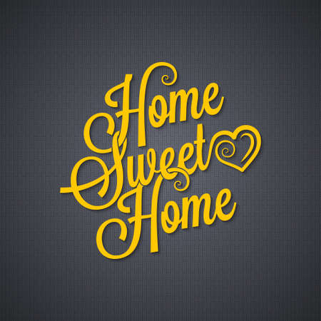 homes: home sweet home vintage lettering