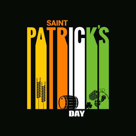 patrick: patrick day design vector background Illustration