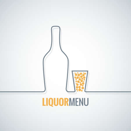 glass bottle: liquor bottle glass shot design