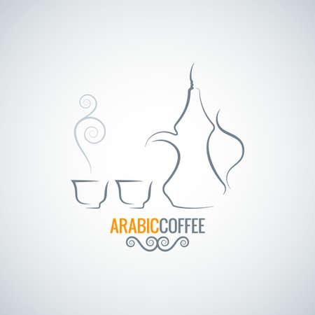 arabic coffee: arabic coffee vintage ornate