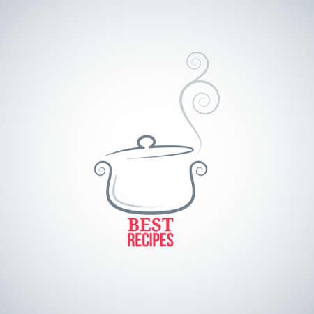 ornement casserole cuisson fond cuisinier