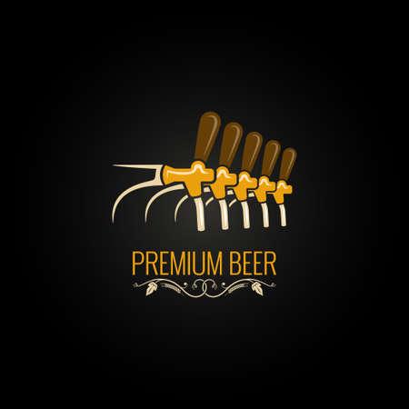 Cerveza de grifo de la vendimia adornado Foto de archivo - 59775937