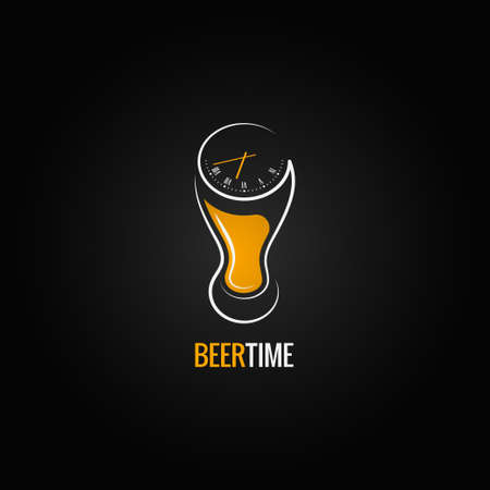 beer glass party time concept design