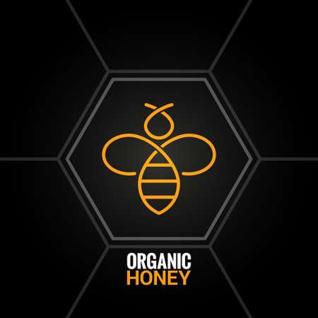 Biene auf Waben-Hintergrund