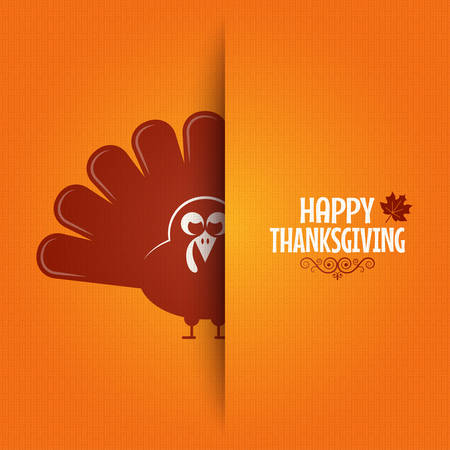 greeting card background: Thanksgiving turkey greeting card background