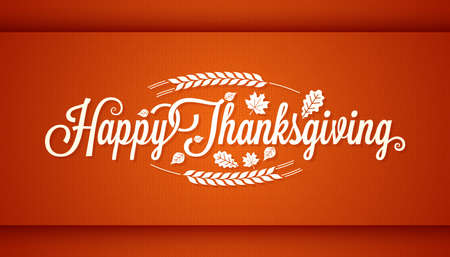 Thanksgiving vintage card lettering background