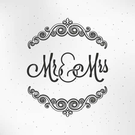 Mister and Miss Wedding Design Background.
