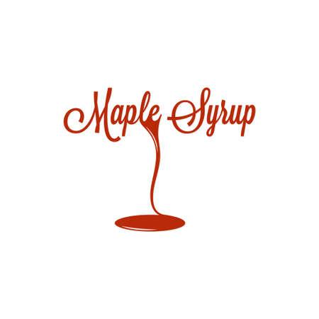 maple syrup: Maple Syrup Sign Design Background Illustration